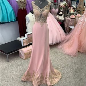 Blush and Gold Gown size 12